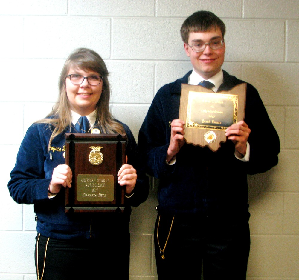 Pettisville FFA two members named Stars