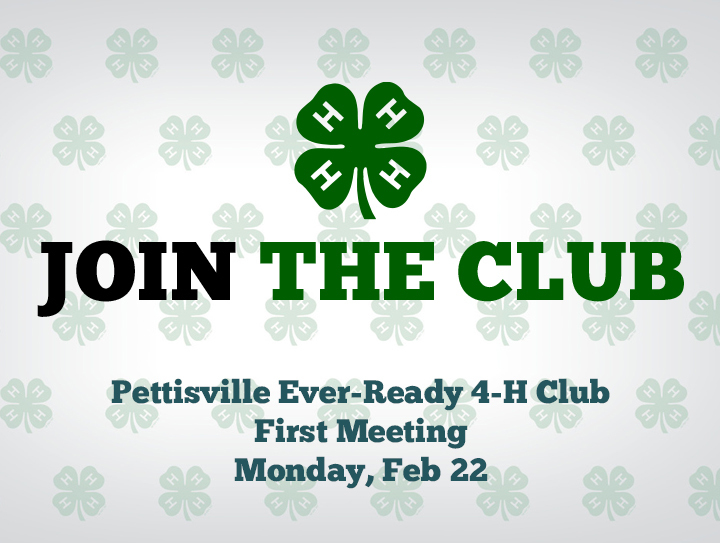 Pettisville Ever- Ready 4-H to Host 1st Meeting Virtually