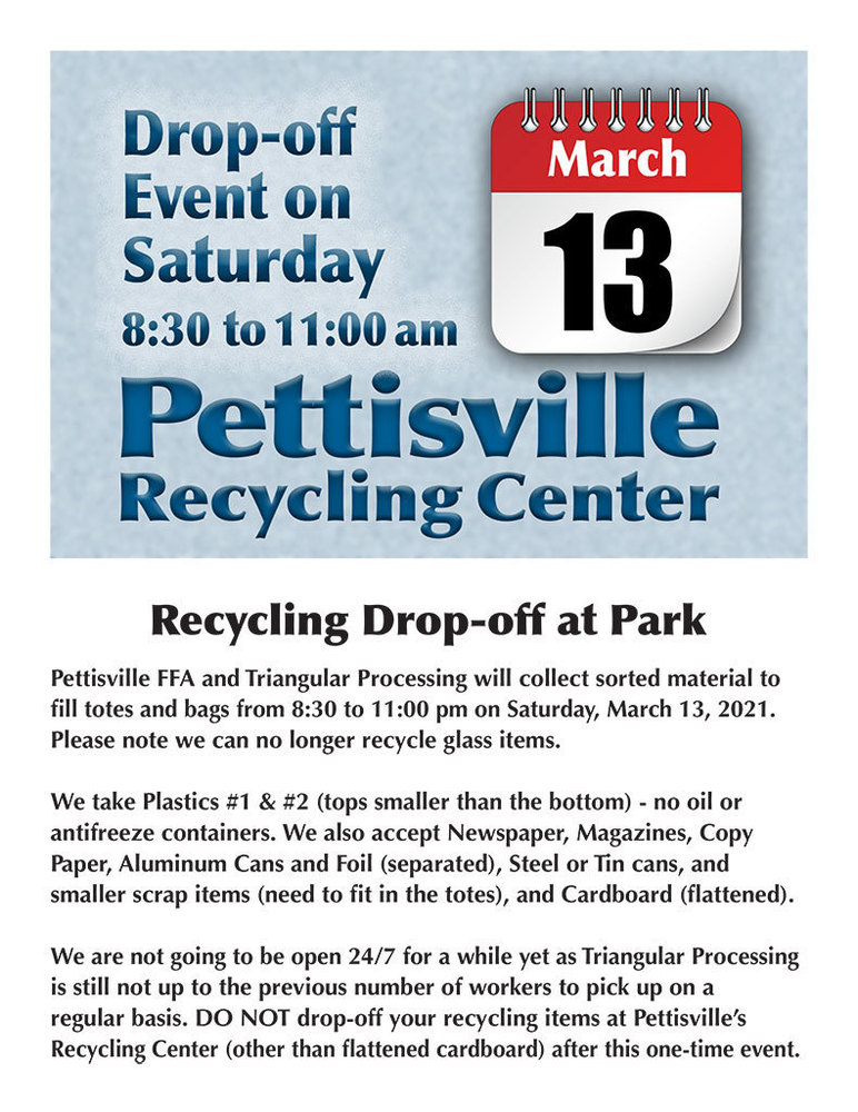 March Recycling Drop-Off